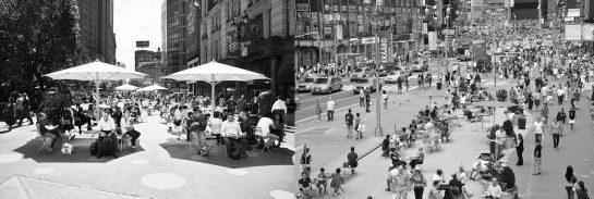 El New York para las personas; humanización del espacio público. Fuente: DOT