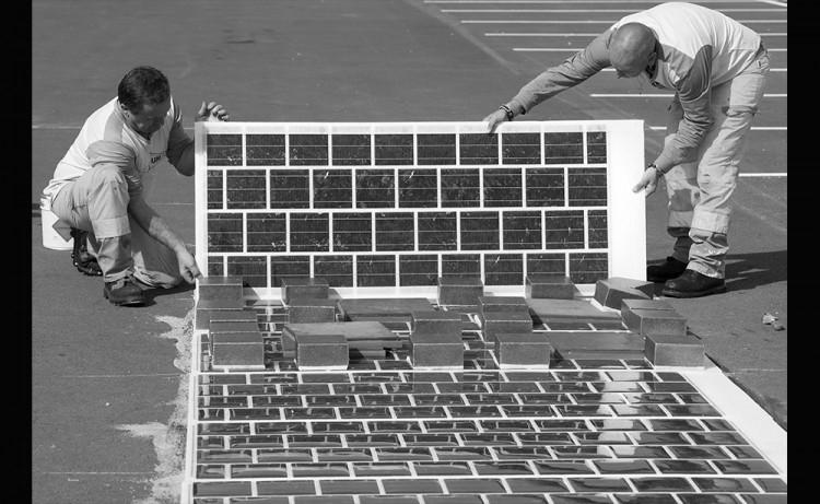 instalando una carretera solar