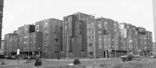 '12 Towers', a housing building in Villa de Vallecas district in Madrid (Spain). Designed by Manuel Perez Romero and Sara de la Mata and completed in 2008.