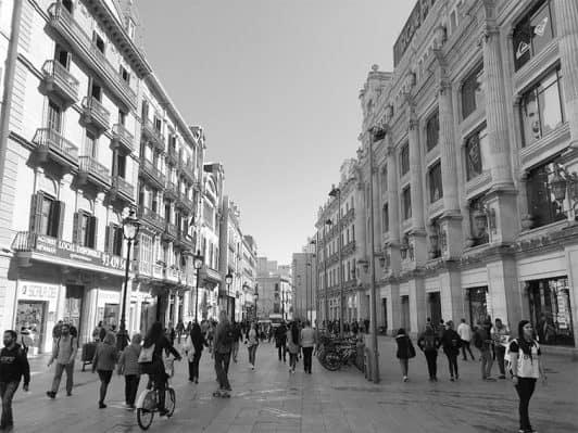 calle espacio dinámico