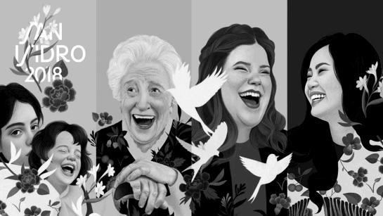 Collage de los carteles de las fiestas de San Isidro 2018, obra de Mercedes Bellard.