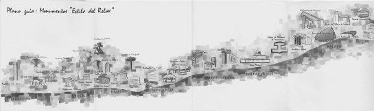 """Plano de localización del los edificios del """"Estilo del relax""""."""