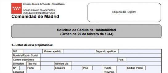 documento solicitud cédula de habitabilidad