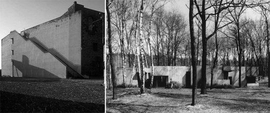 Izda. Torre Aragonese, 1981. Drcha. Casa en el bosque, 1961