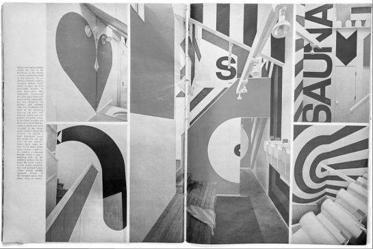 """Casa de baños """"Sea Ranch"""" (1966), California. Barbara Stauffacher."""