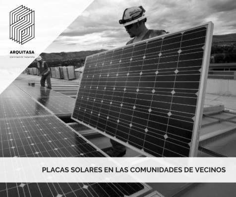 BENEFICIOS DE LAS PLACAS SOLARES EN LAS COMUNIDADES DE VECINOS