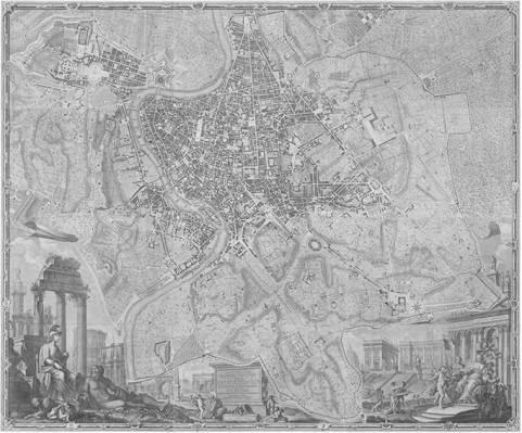 Nuevo plano de Roma, 1748. Fuente Charta Roma