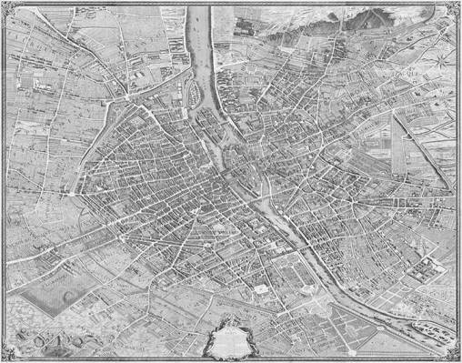 Plano de Turgot, Paris 1739. Autor Louis Bretez.